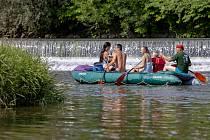 Sjezd řeky Opavy.