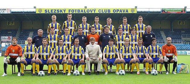 Předsezonní fotografie fotbalistů SFC Opava.