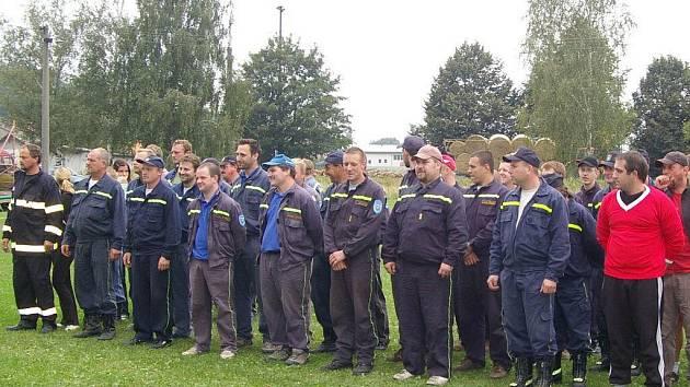 Hasiči z Branky na pohárové soutěži.