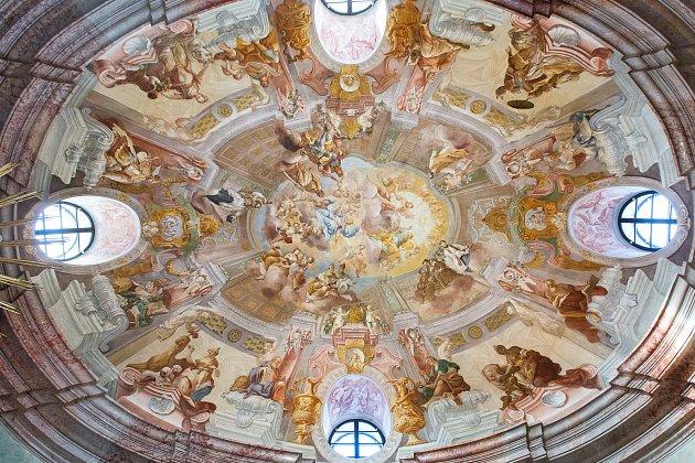 Freska vzámecké kapli.