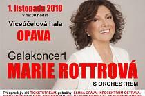 Slezská metropole bude hostit galakoncert Marie Rottrové.