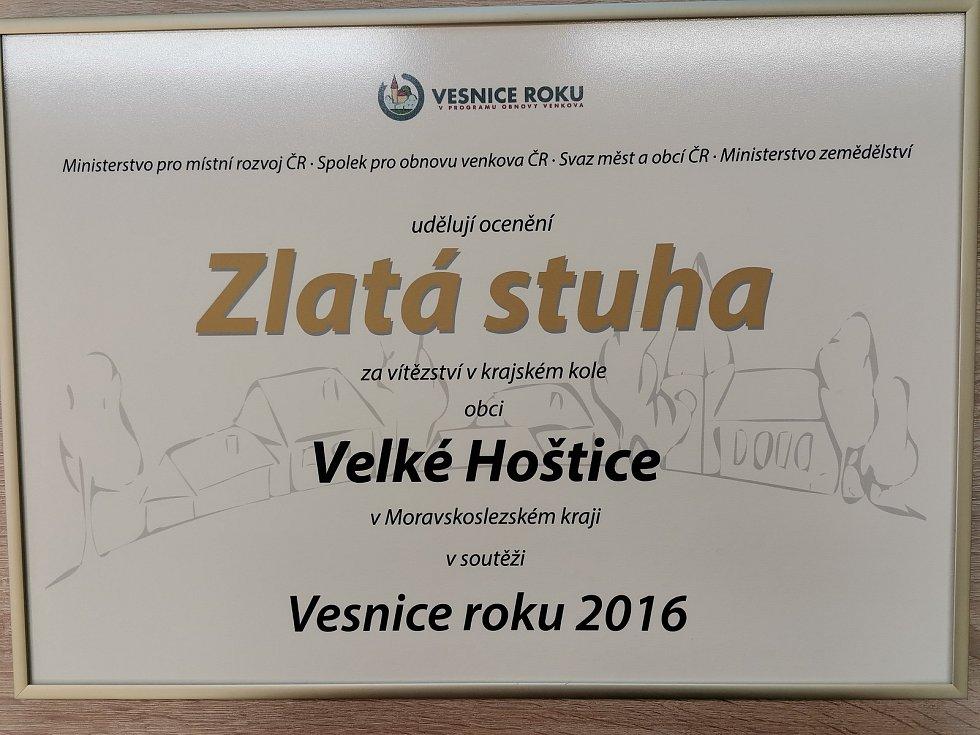 Vítězství v soutěži Vesnice roku MSK 2016.