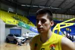 Vašek Bujnoch po vítězném 4. čtvrtfinálovém zápase proti Děčínu.