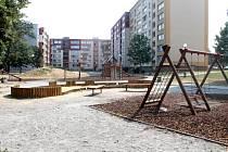 Dětské hřiště u ulice Hlavní v Kylešovicích.