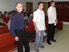 Tři mladíci z Opavska – zleva Petr Glotzmann, Jakub Šíma a Jiří Pelant.