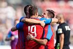 Plzeň - Zápas fotbalové FORTUNA:LIGY mezi FC Viktoria Plzeň a SFC Opava 25. srpna 2019. Plzeň, gól, radost.