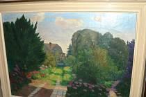 Obraz domu a zahrady v Kylešovicích.