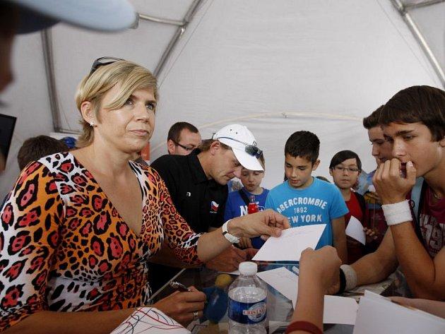 Kateřina Neumannová přijede do Opavy, aby s žáky opavských škol diskutovala o olympiádě.