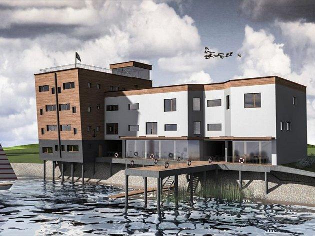 Návrh objektu pro Yacht club Hlučín vypracoval Radim Kučera jako svou diplomovou práci. Nyní je s ním v soutěži Dřevěná stavba roku 2015.