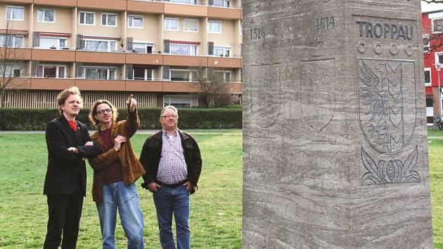 Opavu v Bambergu připomíná i tato pamětní stéla.