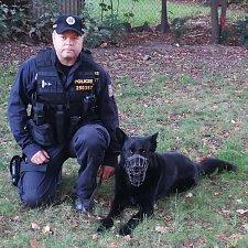 Policejní pes Olman dokázal vystopovat muže, který prchal před strážci zákona.
