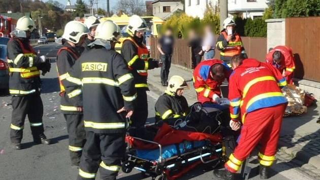 Vážná dopravní nehoda se stala v sobotu odpoledne v Hradci nad Moravicí–Kajlovci.