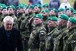 Prezident Miloš Zeman při návštěvě Národního památníku II. světové války v Hrabyni.