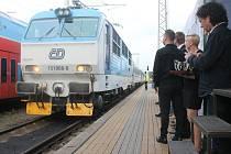 Křest nového vlaku s názvem InterCity Opava, kterým se ze slezské metropole do Prahy dostanete bez tradičního přestupu na ostravském Svinově.