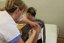 Očkování proti covidu v Opavě.