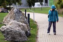 Geopark v Olomouci. Podobně bude zřejmě vypadat i ten vítkovský, zaměřený na horniny.