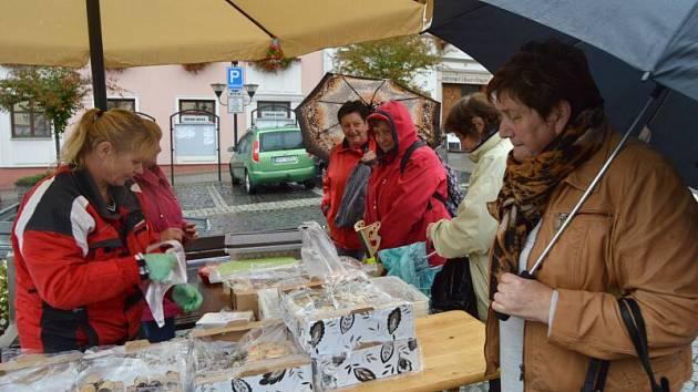 Za plotem. To je název akce, která se i přes nepřízeň počasí konala v sobotu dopoledne na náměstí ve Vítkově.