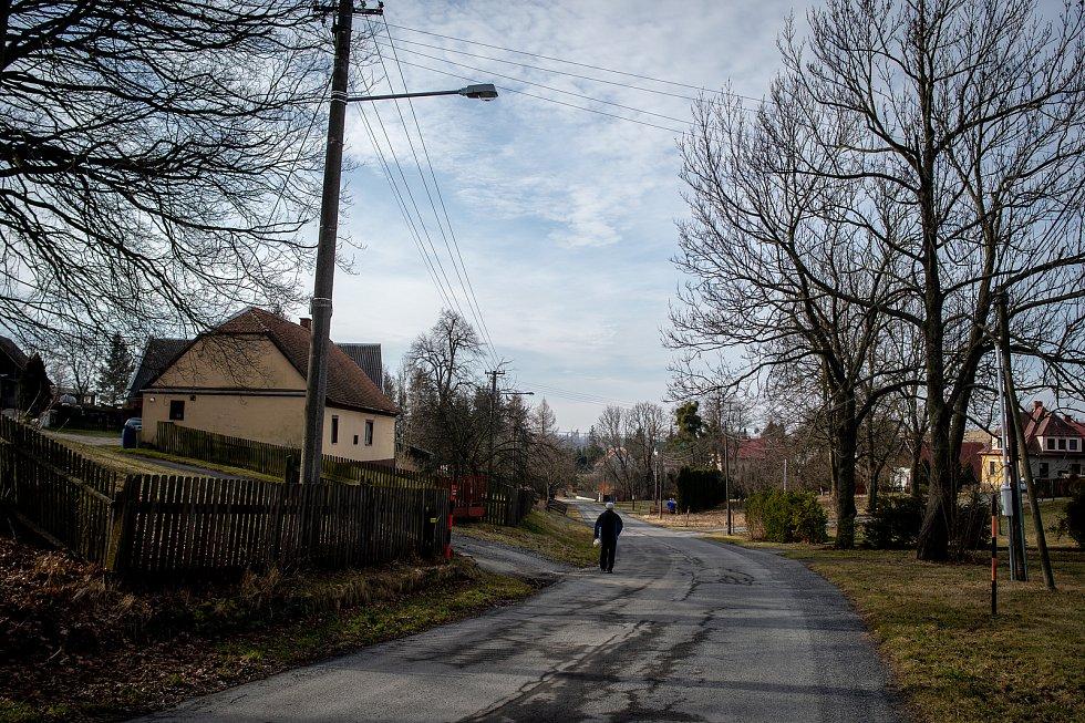 Obec Čermná ve Slezsku, únor 2020.