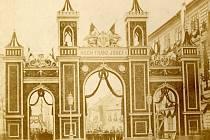 Slavobrána vybudovaná na nynějším náměstí Republiky v Opavě.