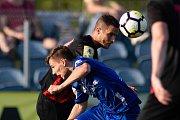 Vlašim - Zápas 23. kola Fortuna národní ligy mezi FC Vlašim a SFC Opava 22. dubna 2018 ve Vlašimi. Jan Schaffartzik - o.