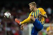 Zápas 1. kola FORTUNA:LIGY mezi AC Sparta Praha a SFC Opava 21. července 2018 v Generali areně v Praze. Matěj Hrabina - o.