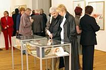 VÝSTAVA. Velký zájem ze strany milovníků výtvarného umění vyvolala výstava Jaroslava Šerých nazvaná Záznamy duše.