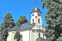 Jednolodní kostel sv. Markéty.
