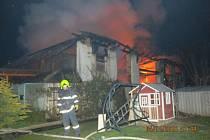 Celkem osm jednotek hasičů zaměstnal požár v noci ze soboty na neděli v Jezdkovicích. Požár se naštěstí obešel bez zranění a obětí na životech. Uhynulo však při něm větší množství chovného ptactva i drobného domácího zvířectva.