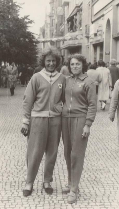 SPARTAKIÁDA v Praze, rok 1960.