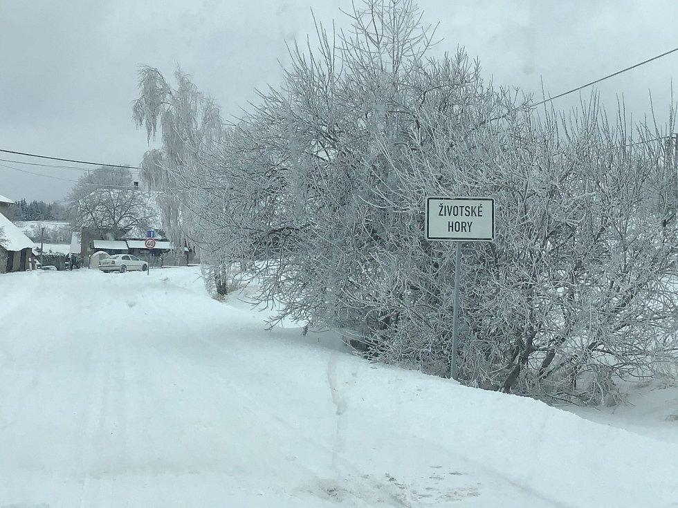 Zima na Opavsku a Vítkovsku