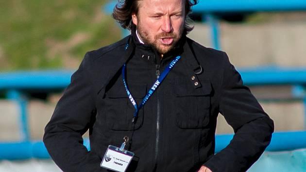 Trenér fotbalistů Dolního Benešova Marcel Melecký.