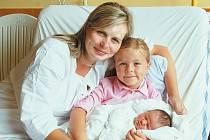 """Anna Havlová se narodila 5. září, vážila 3,68 kg a měřila 50 cm. """"Doma už se na miminko těší sestřička Terezka. Miminku přejeme ať je zdravá a ať nepláče,"""" řekla maminka Petra a tatínek Dalibor Havlovi z Oldřišova."""