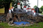 Současný vzhled hradu je vesele barevný.