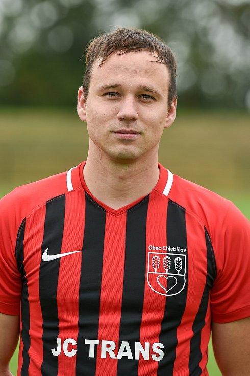 Fotbalový klub SK Viktorie Chlebičov, 9. června 2020 v Chlebičově. Michal Dušna, stoper.