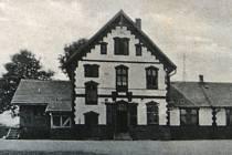 Pohled jak nádraží v Chuchelné vypadalo někdy v letech 1940.