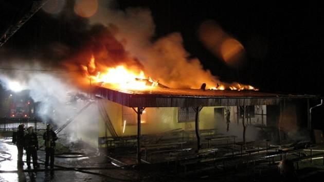 Čtvrteční požár restaurace U Jury v Háji ve Slezsku.