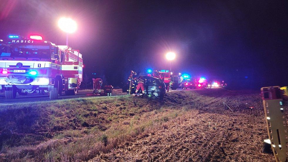 Dopravní nehoda Opava, 31. července 2021, zásah hasičů.