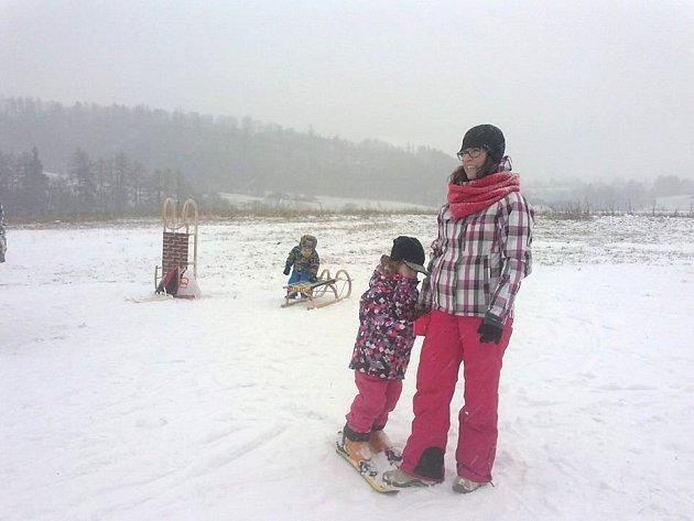 Sjezdovka u Davidova mlýna je určena především dětským lyžařům.
