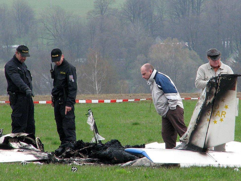 Nehoda ultralehkého letadla u Starých Oldřůvek.
