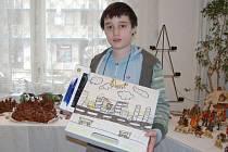 Vítěz výtvarné soutěže David Arleth ze 4. ročníku ZŠ Havlíčkova.