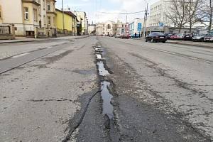 Těšínská ulice v Opavě. Ilustrační foto.