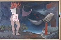 Obraz českého malíře, scénografa a architekta první poloviny 20. století Aloise Wachsmana.