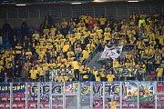 Plzeň - Zápas třetího kola MOL Cupu mezi Viktoria Plzeň a SFC Opava 5. října 2017. Fanoušci SFC Opava.