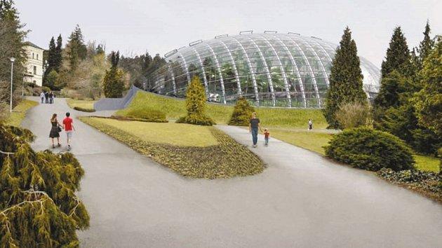 Takto bude vypadat nový unikátní skleník za více než sto milionů korun.
