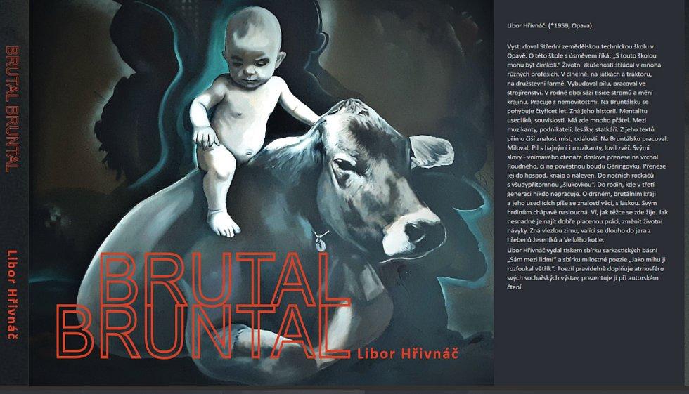 Přední strana knihy Brutal Bruntal.
