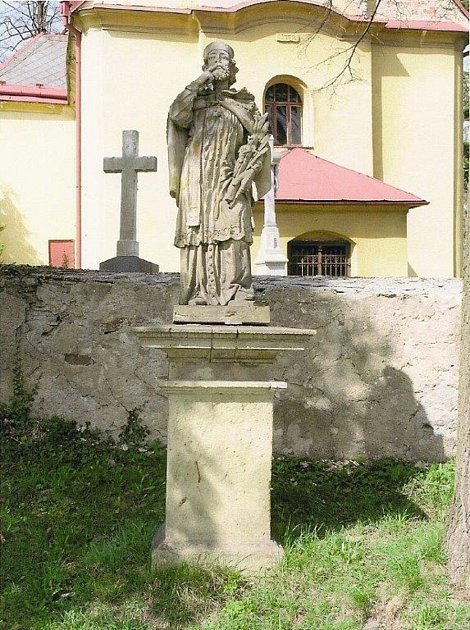 Plastika sv. J. Nepomuckého.