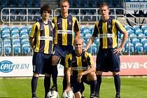Nové dresy fotbalistů Slezského FC Opava.