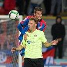 Plzeň - Zápas třetího kola MOL Cupu mezi Viktoria Plzeň a SFC Opava 5. října 2017. David Puškáč - o