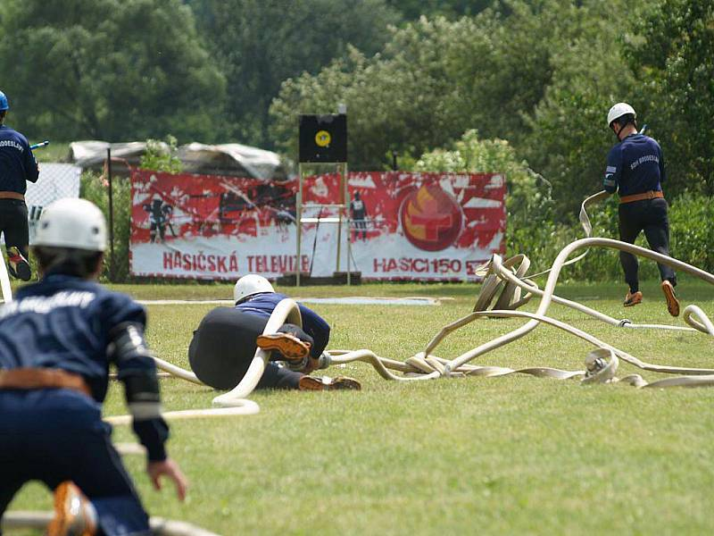 Třetí kolo Extraligy hasičů v požárním sportu ve Vrběticích.