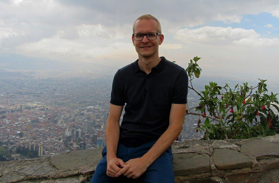 MARTIN HÁJEK na snímku pořízeném nad kolumbijskou metropolí Bogotou.